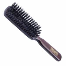 Brosse cheveux plate 100% poils sanglier, bombage 5 rangs